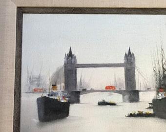 Oil On Canvas, Signed H. Mann - London Bridge