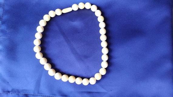 18th century ivory bead necklace