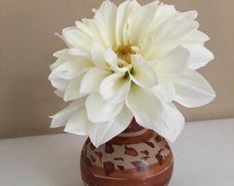 Ceramic Bud Vase / Glazed Pottery Bud Vase