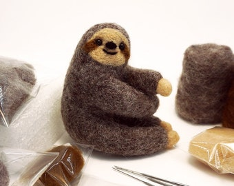 Leidersty Felt Animals Needle Felting Kit Handcraft Kit for Needle Material Bag Pack Non Finished Poked Set Griaffe Penguin Wool Felt Craft DIY