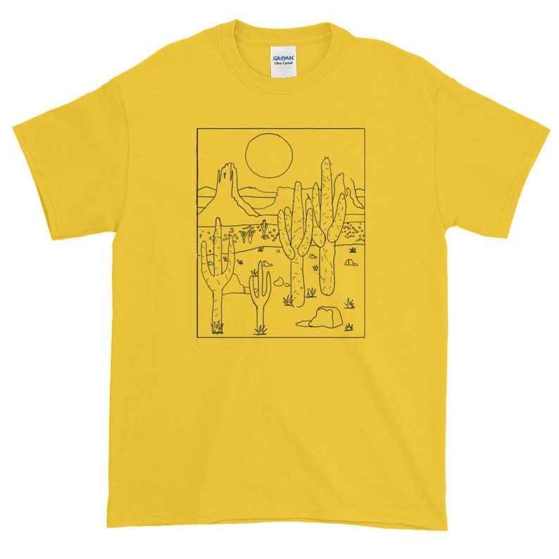 e54f36c20cd58 Desert vibes yellow Short-Sleeve T-Shirt