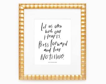 "Fear Nothing | Female Saints Quote Art Print | 8x10"""