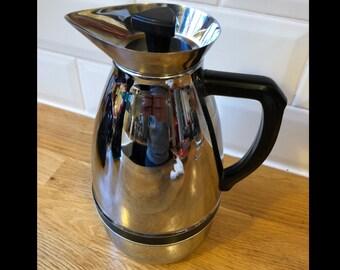 Great vintage vacuumflask coffeecan chrome from mid 20th century