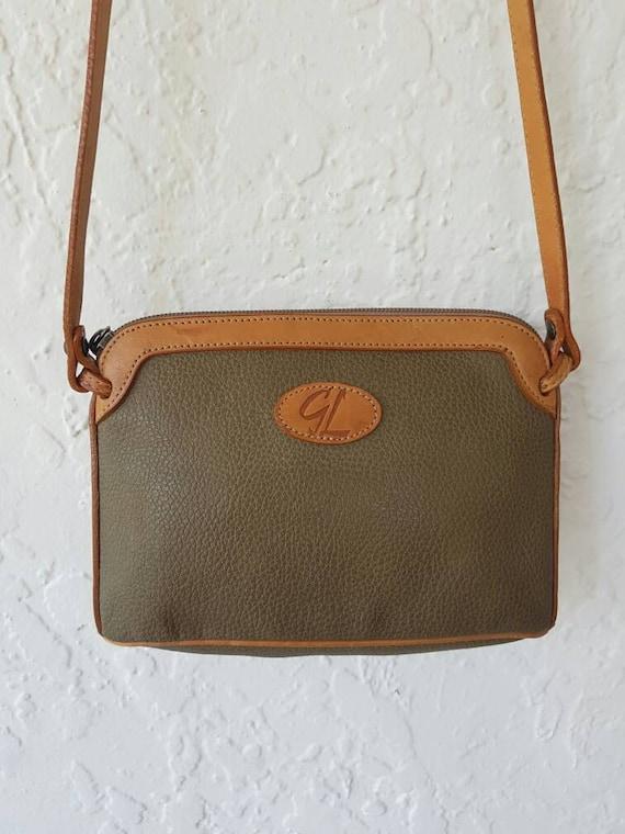 Leather and Vegan Crossbody bag • Brown Leather Ha