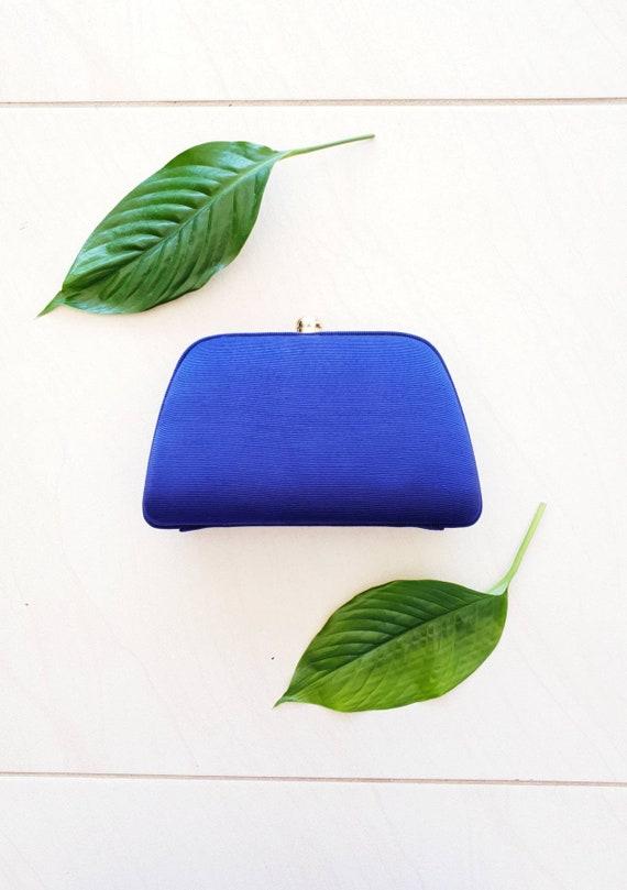 BLUE VINTAGE CROSSBODY • Blue Silk Bag • Crossbod… - image 2