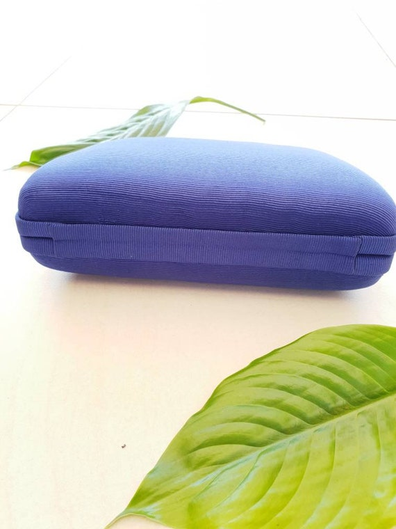 BLUE VINTAGE CROSSBODY • Blue Silk Bag • Crossbod… - image 5
