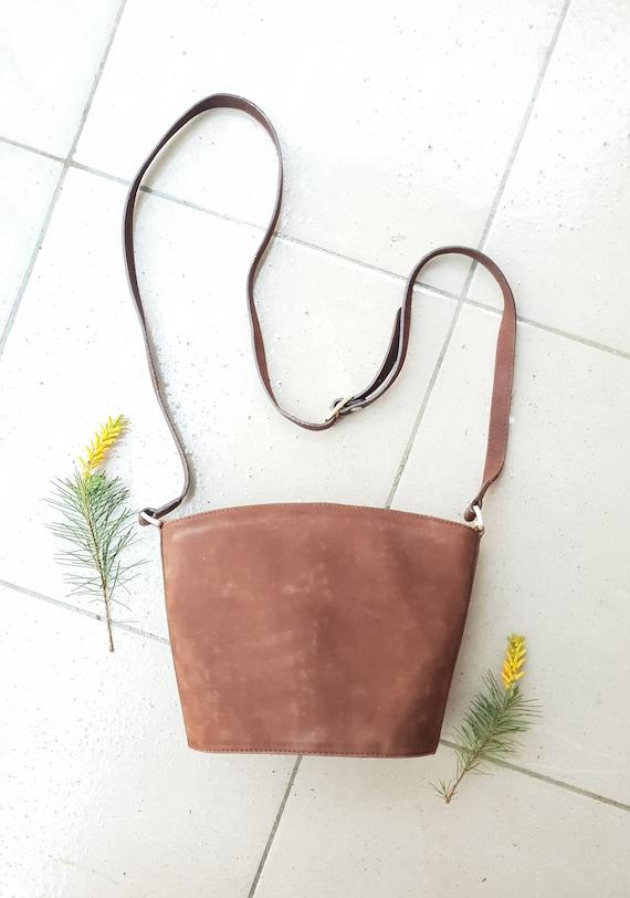 BALLY CROSSBODY BAG • Vintage Designer bag• Brown