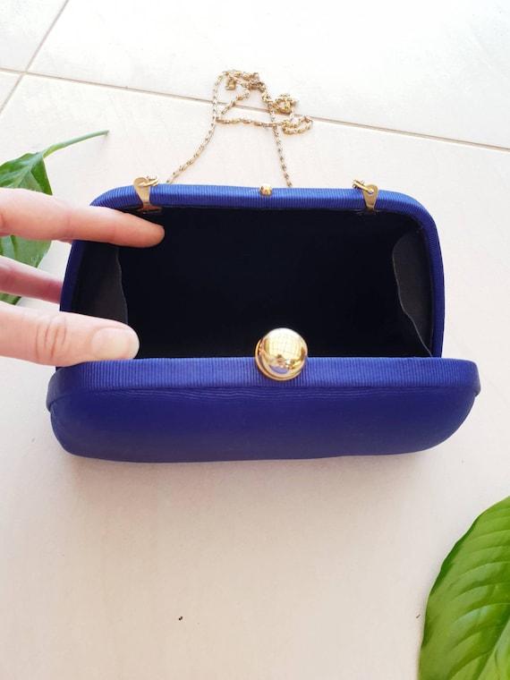 BLUE VINTAGE CROSSBODY • Blue Silk Bag • Crossbod… - image 8