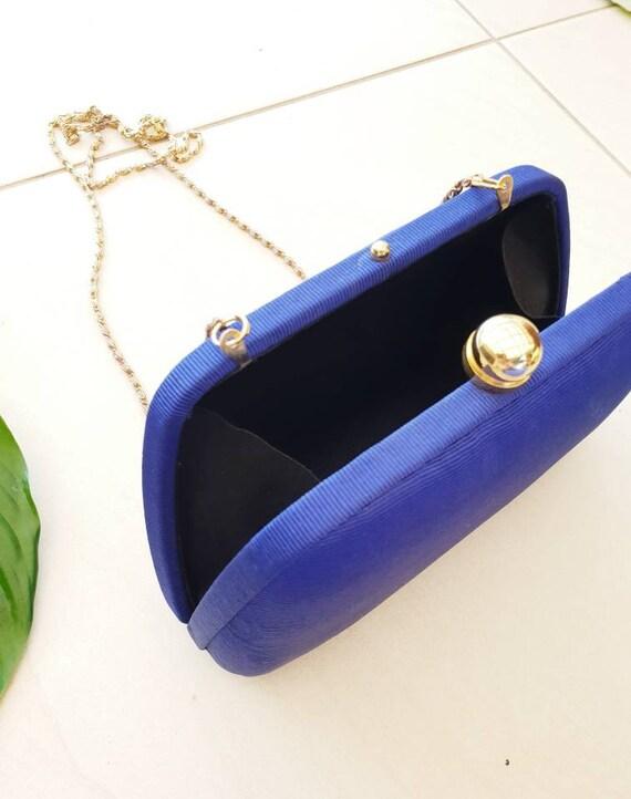 BLUE VINTAGE CROSSBODY • Blue Silk Bag • Crossbod… - image 7