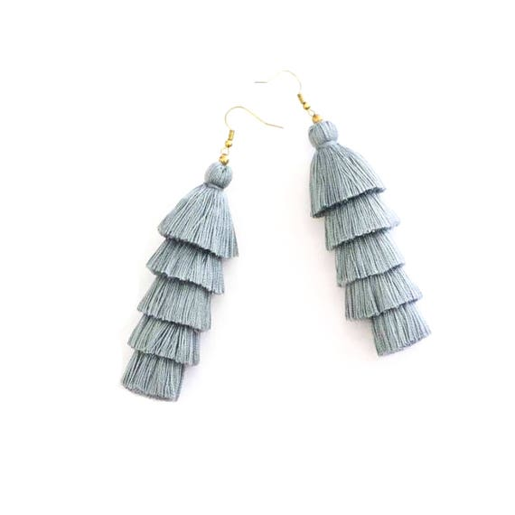 Piper Stacked Tassel Earring