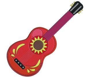Spanish Guitar- Cinco de Mayo  -  Embroidery Design - 4x4, 6x6, 8x8, 10x10, 12x12