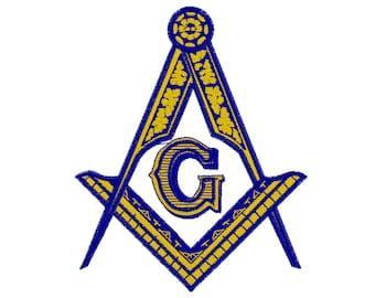 3 Diameter Prince Hall F&AM Square & Compass Round Blue Masonic Auto Emblem Exterior Accessories