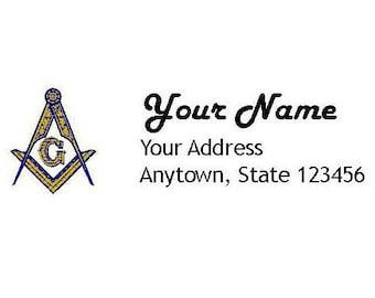 master mason square compasses return address labels docx format for use with avery 5160 return address labels