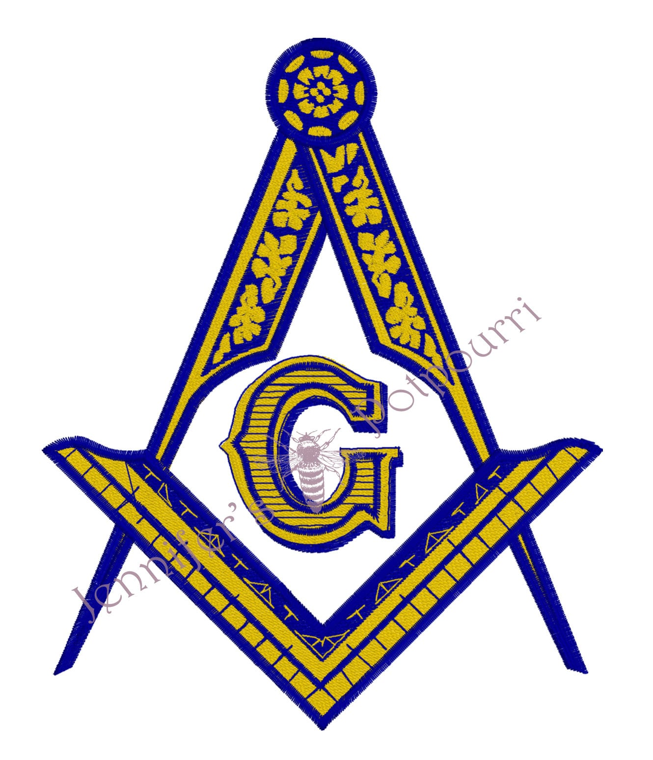 Embroidery Design Digital File and 14x14 6x6 Effulgent Square and Compasses 10x10 8x8 Ancient Free and Accepted Masons 12x12