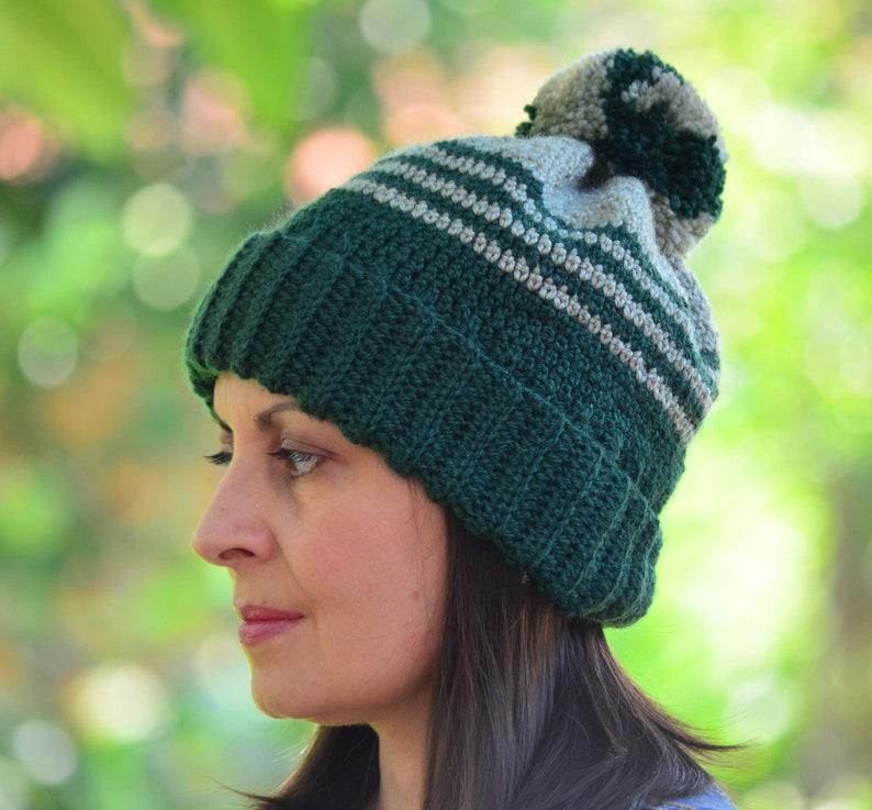 Pom pom inverno cappello verde maglia cappello cappello a  e40e7070c48a