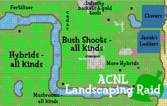 image 0 - Animal Crossing New Leaf Landscaping Raid Etsy