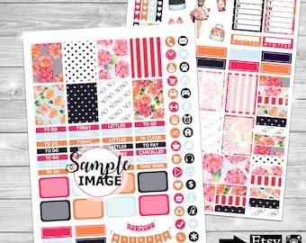 Printable Planner Stickers, Weekly Planner Sticker Kit, Planner Stickers, Printable Sticker Kit, Sticker Set, Planner Kits