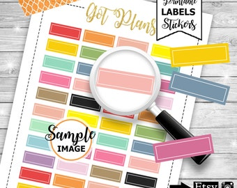 Blank Labels, Functional Planner Stickers, Printable Stickers, Blank Label Stickers