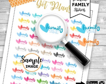Family Stickers, Vacation Planner Stickers, Vacation Stickers, Printable Stickers For Planners, Agenda Stickers, Planning Stickers