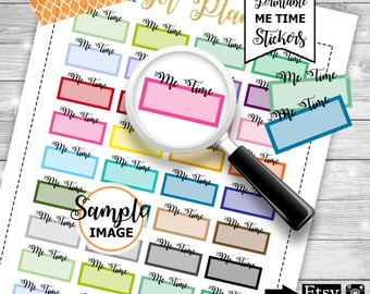 Me Time Label Stickers, Planner Stickers, Printable Stickers, Functional Planner Stickers, Stickers For Planners