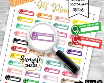 Doctor Appointment Stickers, Printable Planner Sticker, Erin Condren Stickers For Planners