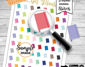 Journal Stickers, Printable Stickers, Journal Planner Stickers, Scrapbook Stickers, Agenda Stickers