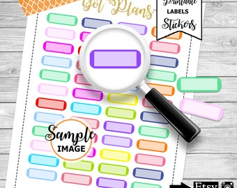 Functional Stickers, Blank Stickers, Printable Planner Stickers, Blank Planner Labels, Agenda Stickers