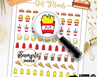 Food Planner Stickers, Food Stickers, Planner Decor, Decorating Stickers