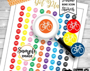 Bicycle Icon Stickers, Functional Planner Stickers, Printable Planner Stickers, Bike Planner Stickers, Bicycle Stickers