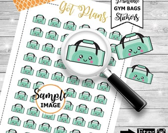 Gym Bag Planner Stickers, Workout Stickers, Exercising Stickers, Planner Printables, Decorating Stickers, Item Stickers, Printable Stickers