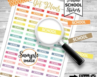 School Headers, Functional Stickers, Functional Labels, Label Stickers, School Stickers, Planner Decor, Stickers For Planners
