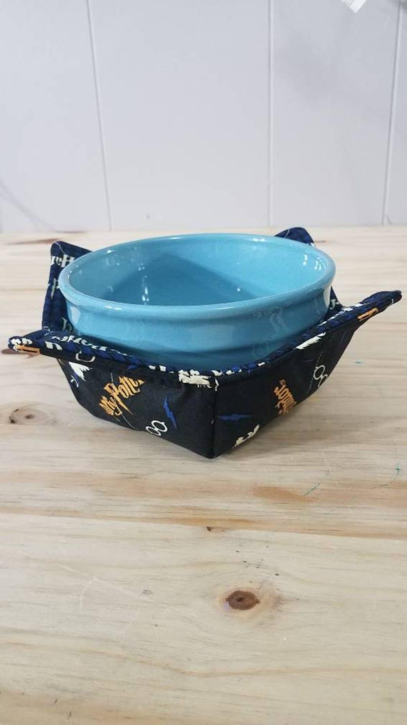 potholder reversible bowl holder microwaveable Harry Potter insulated heat resistant housewarming bowl holder