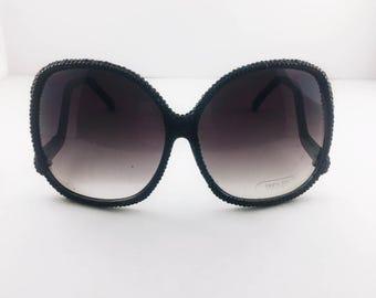 09030ac9019b98 bling bling zwarte pure crystalized crystal Strass diamant bling schoonheid  zonnebril