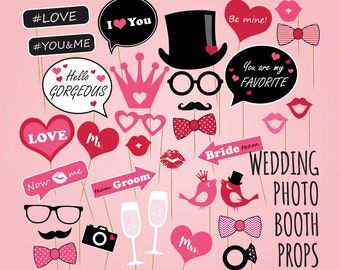 Bride To Be Party Photo Booth Props Kit Happium 20pcs