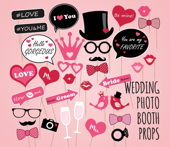 Diy wedding photo booth props