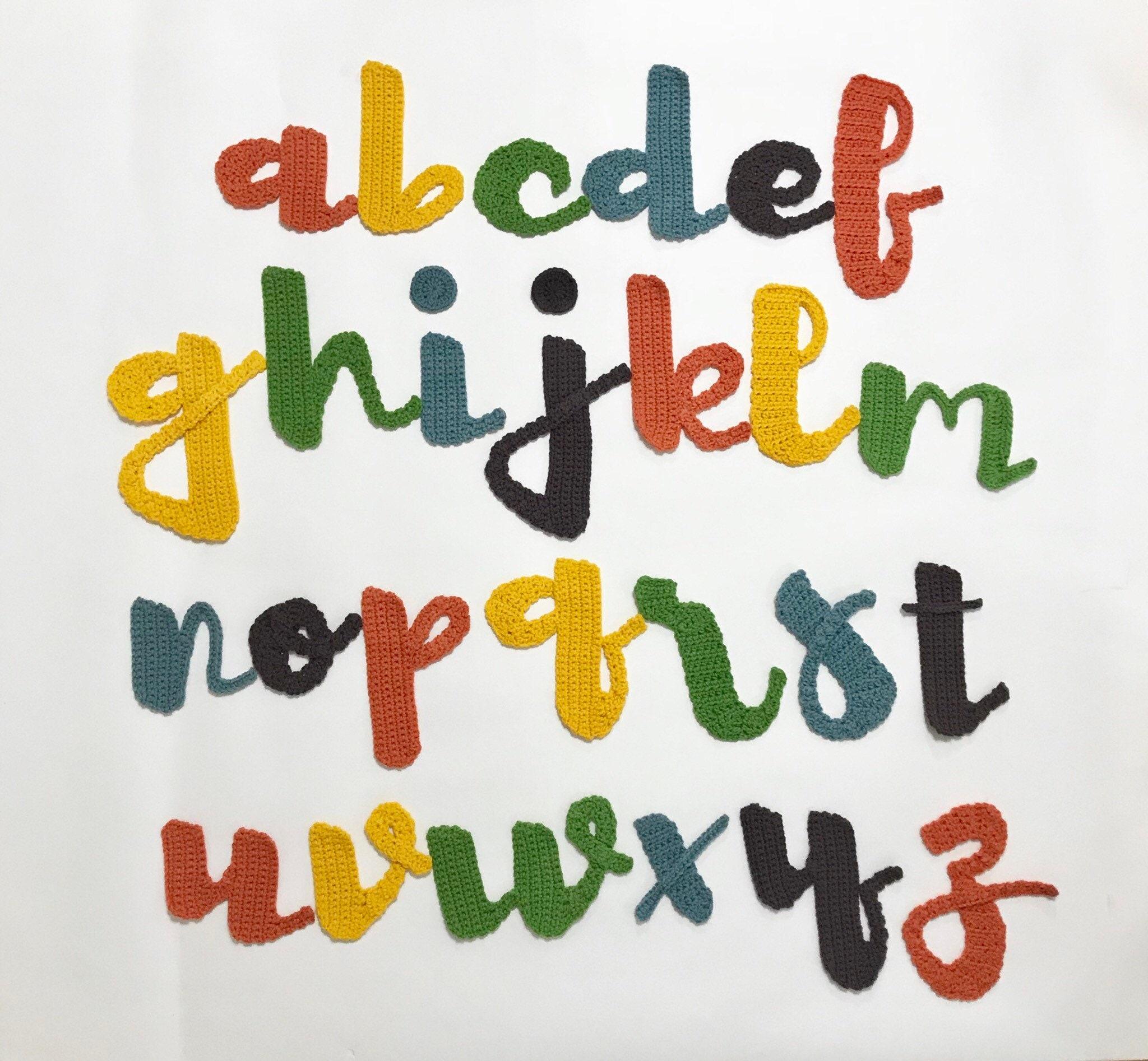 Angels Rainbows Font Crochet Alphabet Pattern Crochet Etsy