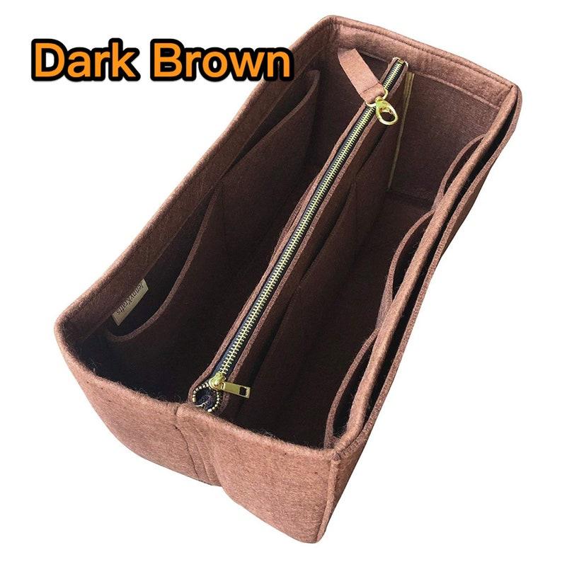 Tote Felt Purse Insert Laptop iPad Pocket Tory Buch CAROLINE TOTE Organizer Zip Metal Gold Makeup w Detachable Zipper Bag