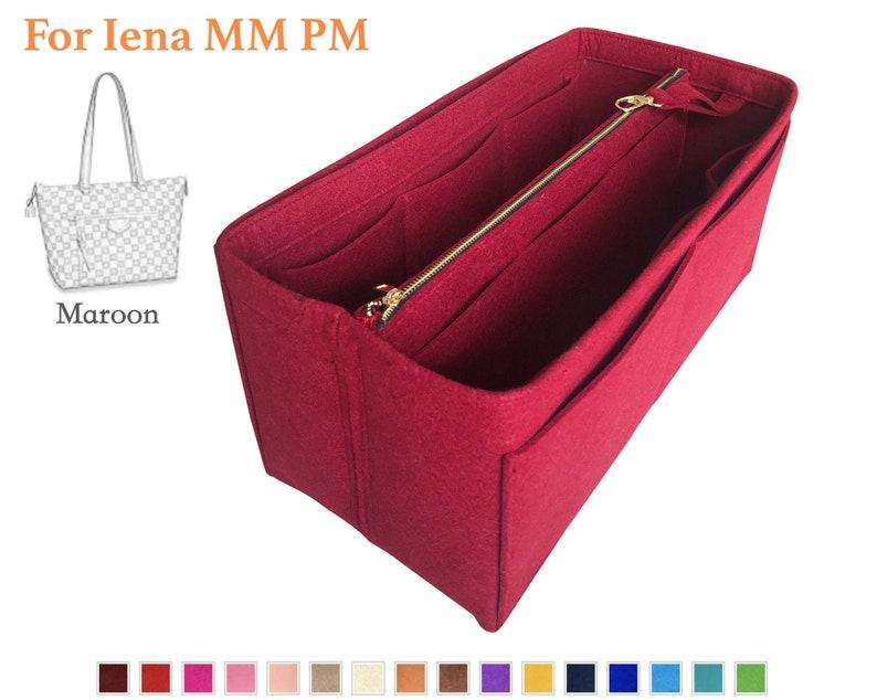 56cf1d2786 Customizable Organizer (w/ Detachable Zipper Bag), Tote Felt Purse Insert,  Cosmetic Makeup Diaper Handbag Gold Golden Zip Laptop iPad Pocket