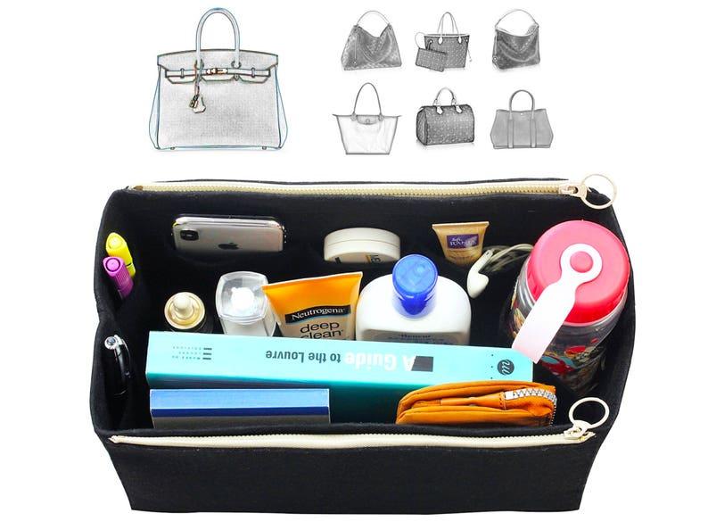 Customizable Her. mes Organizer w/ Double Zipper Pockets image 0