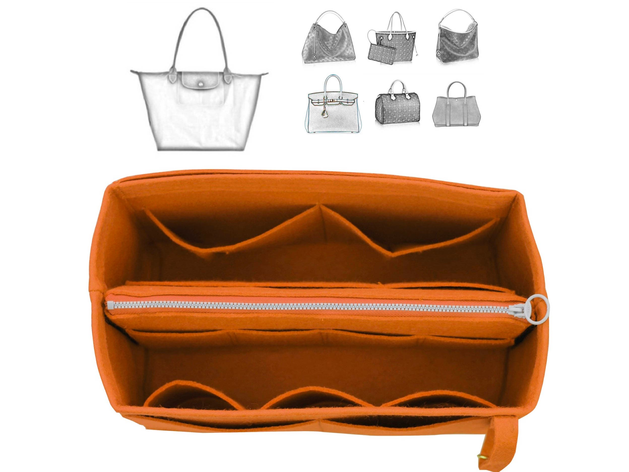 95b3b1215f07 Customizable Long. champ Organizer (w  Detachable Zipper Bag)