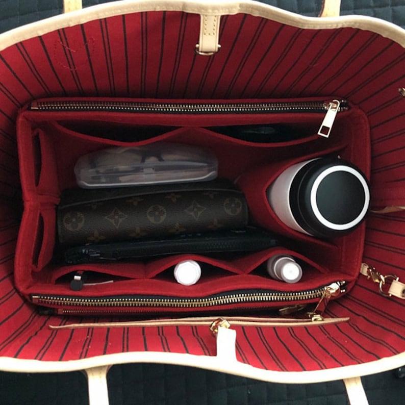 Neverfull GM MM PM Bag Organizer w/ Double Zipper Pockets Cherry