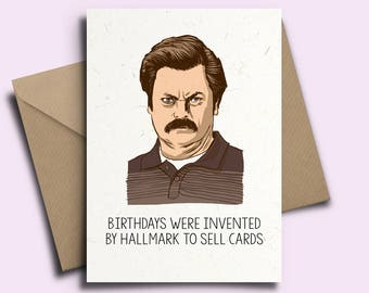 Ron Swanson Personalised Birthday Card