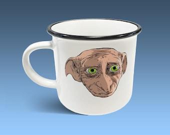 Dobby the Elf - Harry Potter Personalised Ceramic Camping Mug - Daniel Radcliffe, Free Elf