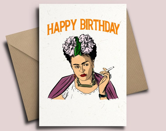 Frida Kahlo Personalised Birthday Card Art Culture