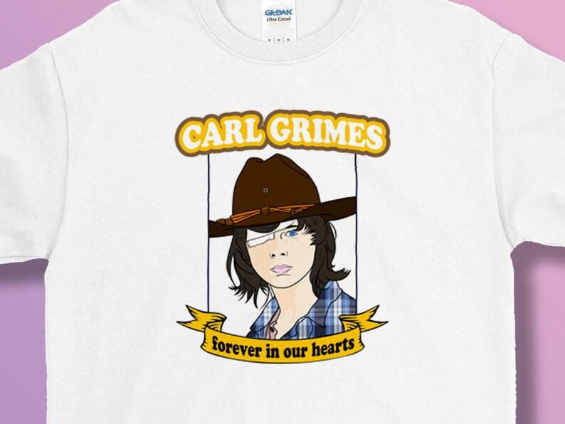 3f2797938 The Walking Dead Carl Grimes Tee T Shirt Adult S M L XL RIck   Etsy