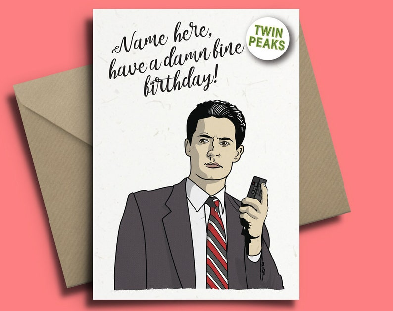 Twin Peaks Dale Cooper David Lynch Personalised Birthday Card
