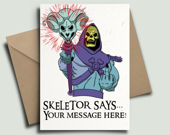 Skeletor He Man Masters Of The Universe 80s Kids Tv Etsy