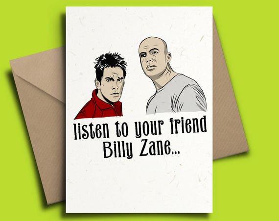 Zoolander Personalised Birthday Card Billy Zane Ben Stiller