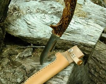 hand made whitetail antler handle