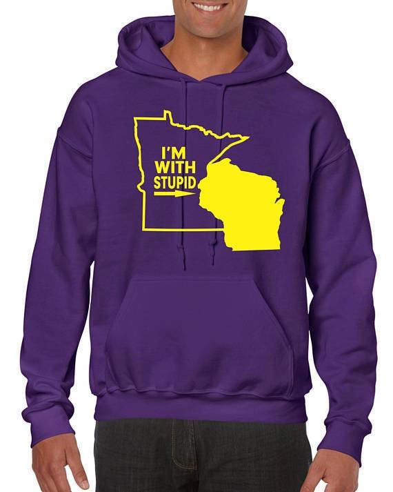 441b43abb Minnesota Viking Football Sweatshirt / Hoodie SKOL NFC   Etsy